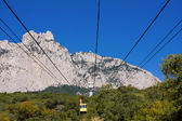 Ropeway to the top of Ai-Petri in Crimea mountains, Ukraine — Stock Photo