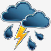 Vector weather icon with a storm weather — Stock Vector