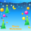 Vector christmas background — Stock Vector #14308417
