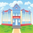 Royalty-Free Stock Vector Image: Vector modern school  building