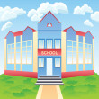 Stock Vector: Vector modern school building