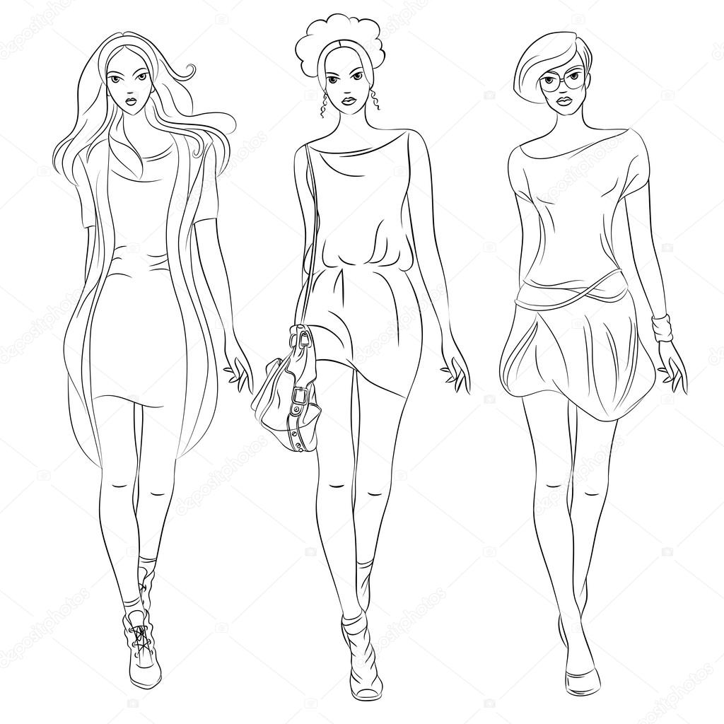 Anime Top Model Colouring Pages