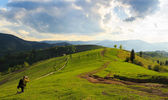 Landscape photography in Mizhhiria, Carpathians — Stock Photo