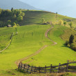 Emerald Hills Mizhgorya in the Carpathian mountains — Stock Photo