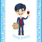 Stag party invitation — Stock Vector