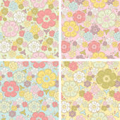 Vector Pastel seamless floral pattern — Stock Vector
