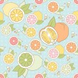 Vector seamless pattern with citrus — Stock Vector