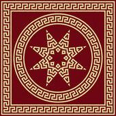 Vector traditionele vintage gouden griekse sieraad (meander) — Stockvector