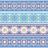 Vector seamless Traditional Muslim floral ornament — Wektor stockowy