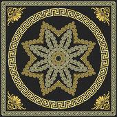 Vector Traditional vintage gold Greek ornament (Meander) — Stock Vector