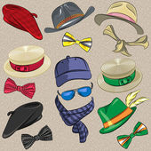 Vector set hipster accessories — Vector de stock