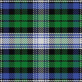 Vector seamless pattern Scottish tartan Black Watch 2 — Stock Vector