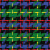 Vector seamless pattern Scottish tartan Black Watch — Stock Vector