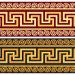 Vector frieze with Greek ornament (Meander) — Stock Vector #41440691