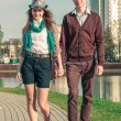Young fashion elegant stylish Hipste couple — Stock Photo #45416669