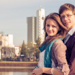 Young fashion elegant stylish Hipster couple — Stock Photo #45416689