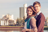 Young fashion elegant stylish Hipster couple — Stock Photo
