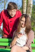 Young fashion elegant stylish Hipste couple — Zdjęcie stockowe