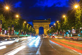 Arc de triomphe Paris at sunset — Stock Photo