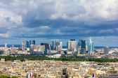 View of the La Defense from Eiffel Tower, Paris — Stockfoto