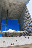 Grand Arch in business district La Defense, Paris, France. — Stock Photo