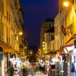 Montmartre by night - street near Sacre Coeur in Paris, France — Stock Photo #47202955