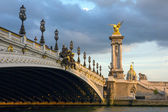 Pont Alexandre III at twilight in Paris, France — Stock Photo