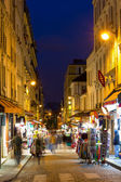 Montmartre by night - street near Sacre Coeur in Paris, France — Stock Photo