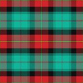 Vector seamless pattern Scottish tartan Prince Edward Island — Stock Vector