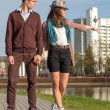 Young fashion Hipster couple in love — Stock Photo #47911129