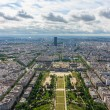 View of Paris, the Champ de Mars from the Eiffel tower — Stock Photo #48505275