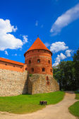 Corner tower of the Trakai Island Castle — Stok fotoğraf
