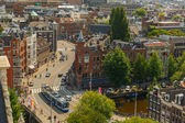 Amsterdam city view from Westerkerk, Holland, Netherlands.  — Stock Photo