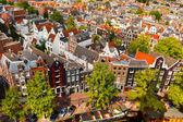 Amsterdam city view from Westerkerk, Holland, Netherlands.  — Stock Photo