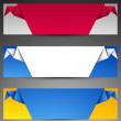 Royalty-Free Stock Vector Image: Set of origami web banners.