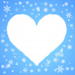Abstract background. Heart with snow. Vector — Stock Vector