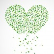 Royalty-Free Stock Vector Image: Abstract heart, made from the leaves