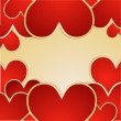 Valentine's day vector background — Stock Vector