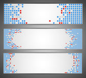 Horizontal web banners. Pixel art. Vector — Stock Vector