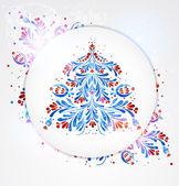 Blue New Year Tree — Stock Vector