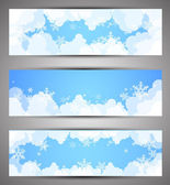 Winter banners. Vector — Stock Vector