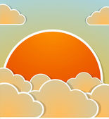Sunrise background. Vector — Stock Vector