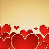 Aftelkalender voor Valentijnsdag vector achtergrond. — Stockvector