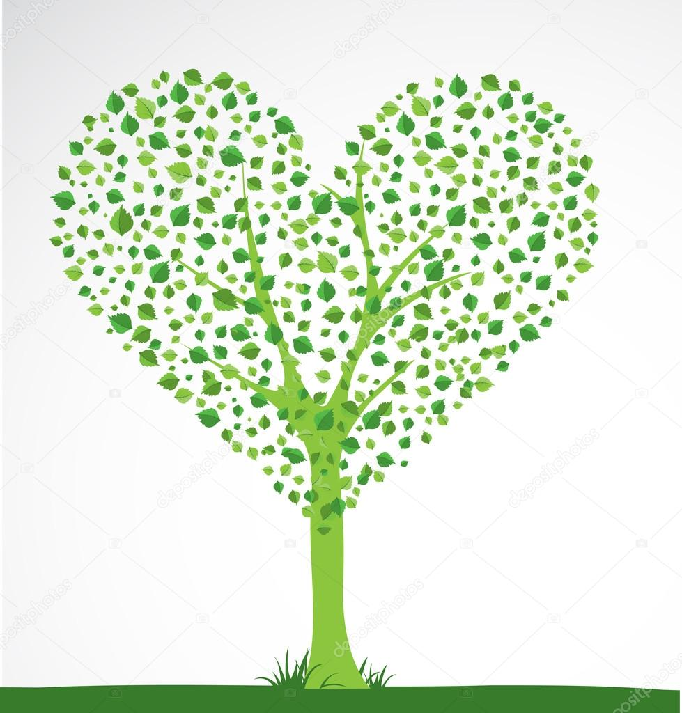 Abstract tree. Heart shape. Vector  Stock Vector #12100426