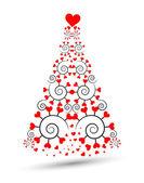 Beautiful christmas tree. Vector — Stock Vector