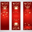 Vertical christmas web banners. — Stock Vector #13506985