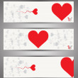 Set of web banners. Vector. Love theme — Stock Vector