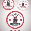 Stock Vector: Set of vintage retro bakery badges and labels. Vector
