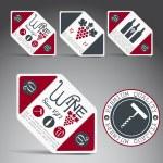 Set of wine labels. Vector — Stock Vector #13507033