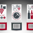Set of wine labels. Vector — Stock Vector #13507034